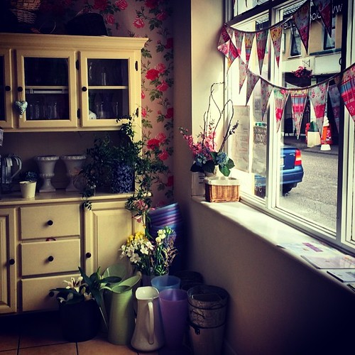 Today, I visited the prettiest flower shop ever. Bloomsday Flowers in Carrigtwohill. Its windows have bunting!