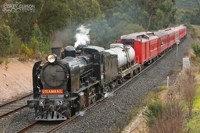 Steamrail K153 trip to Traralgon.
