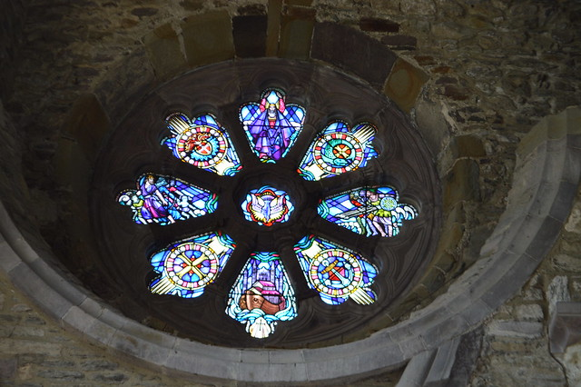 This is a picture of a stained glass window.