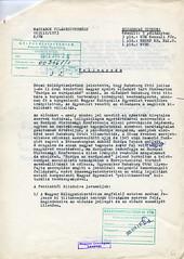 090. A Magyarok Világszövetségének feljegyzése Habsburg Ottó felsőőri előadása után