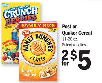 image relating to Post Cereal Printable Coupons known as Reset: $1/1 Write-up Honey Bunches of Oats Cereal Printable