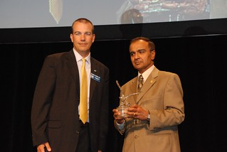 Picture of Dr. Lalit Verma receiving his award.