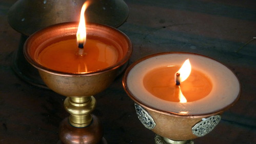 Nepal - Kathmandu - Temple Lamps