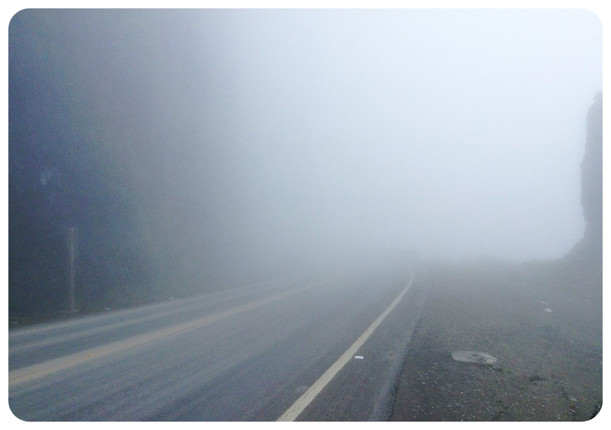 fog on the yungas road