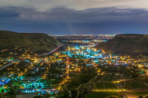 city mountain night 35mm landscape lights golden nikon colorado long exposure denver lookout brewery coors d7100