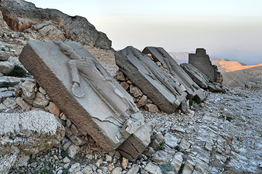 Mount Nemrut. Royal tomb from 1st century BC