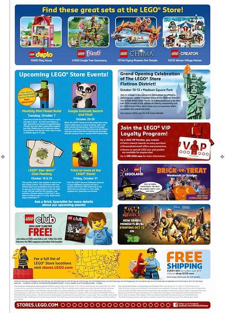 LEGO October 2014 Store Calendar