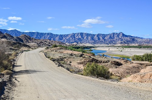 Between Namibia and South Africa, the Orange river in the Ai-Ais Richtersveld transfrontier park
