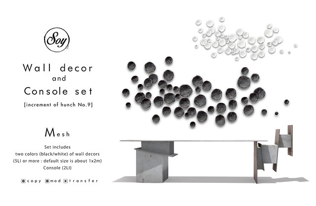 Soy. Wall decor and console set for TMD