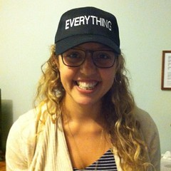 The ultimate Brooklyn bagel lover accepts a Feldman's hat!