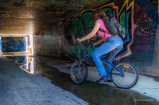 Storm Drain Bike Girl