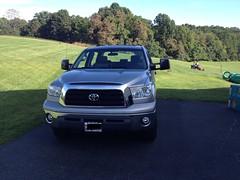 automobile, automotive exterior, toyota, wheel, vehicle, toyota tundra, bumper, land vehicle,