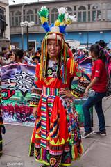 Desfile cultural en Jirón de La Unión, Lima