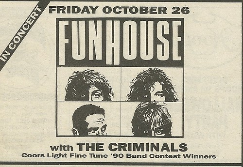 10/26/90 Funhouse @ Mirage, Minneapolis, MN