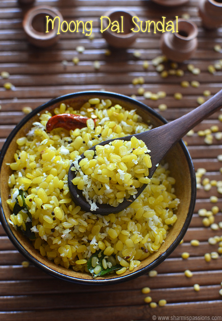 Moong Dal Sundal Recipe