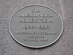 Photo of Alexander Robertson yellow plaque