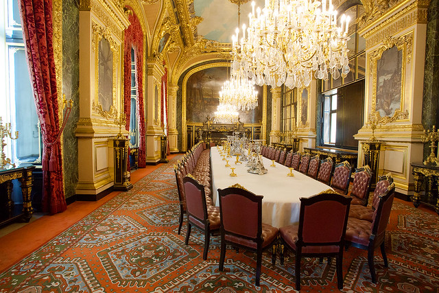 Louis XIV dining table at Louvre Paris