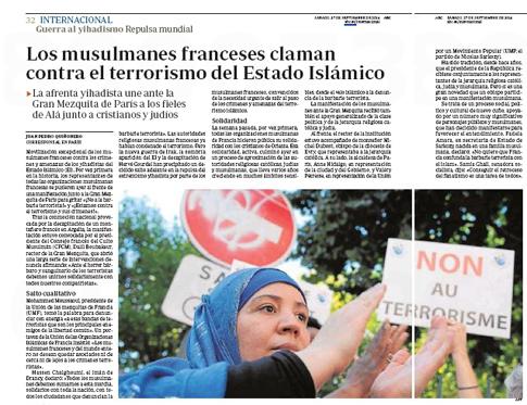 14i27 Musulmanes franceses claman contra el terrorismo del Estado islámico Uti 485