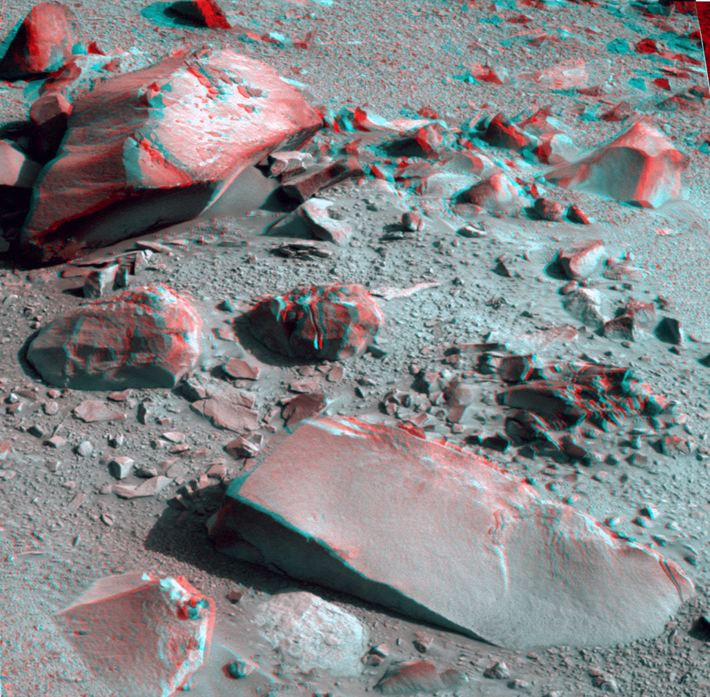 Opportunity Panoramic Camera Sol 3793 - Hoover anaglyph