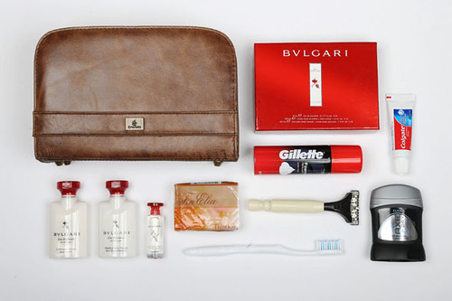 First class airline amenity kits: how the other half flies