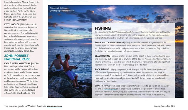 Scoop Traveller mag use on my Fishing mates image, Aug 2014