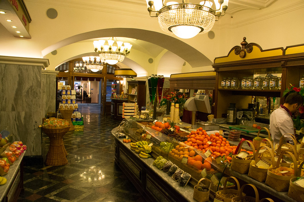 Supermarket inside Gum mall in Moscow