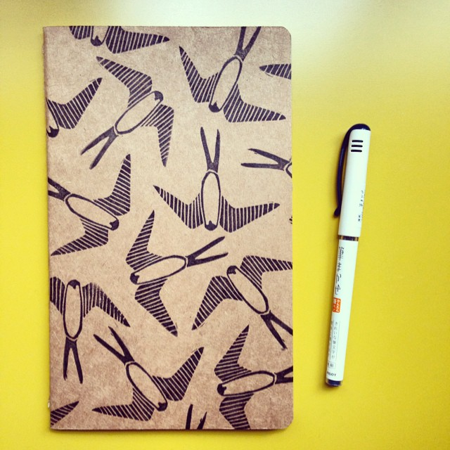 Cleaned it up and put it on a moleskine. I could do this all day. Every day. #wishfulthinking