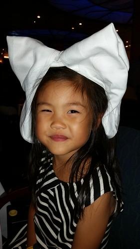 Minnie bow from napkin
