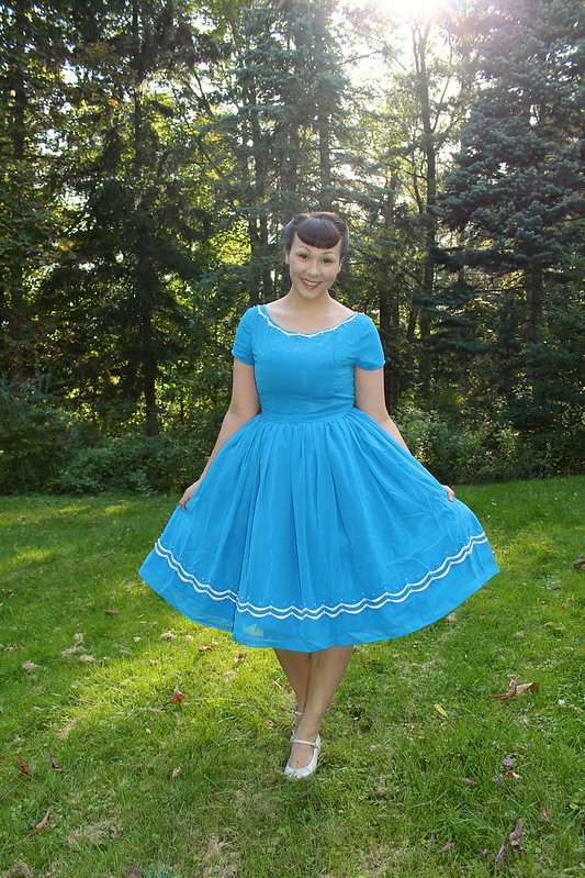 blue ribbon baker dress