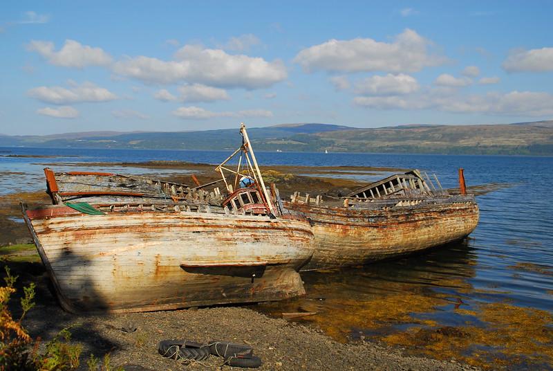 Long forgotten boats at Salen,Isle of Mull