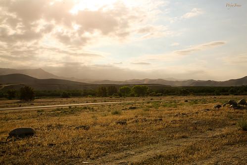 california trees foothills clouds fence river haze rocks desert earlymorning hills np sierranevada cloudscape bakersfield kernriver kerncounty wyojones hartmemorialpark mouthofcanyon