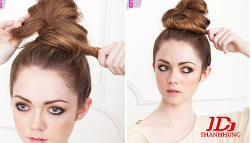 Cách búi tóc đẹp đơn giản! Kiểu búi tóc cao, phồng, xì tin 8