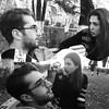 Friends' stories. #Tbilisi #park #weekend #friends #bw