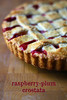 raspberry-plum crostata
