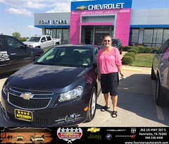 Congratulations to Mary Barnard on your #Chevrolet #Cruze purchase from Gene Klinkerman at Four Stars Auto Ranch! #NewCar
