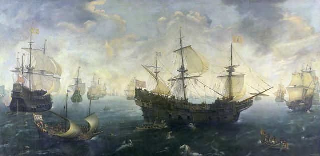 Spanish Galleons off the coast