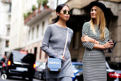 Oksana On and Maria Kolosova - Milan Fashion Week SS15 (1)