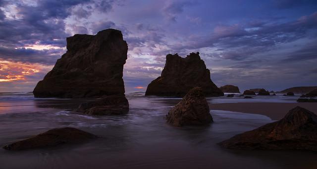 Dramatic Sunset at Bandon Beach, OR