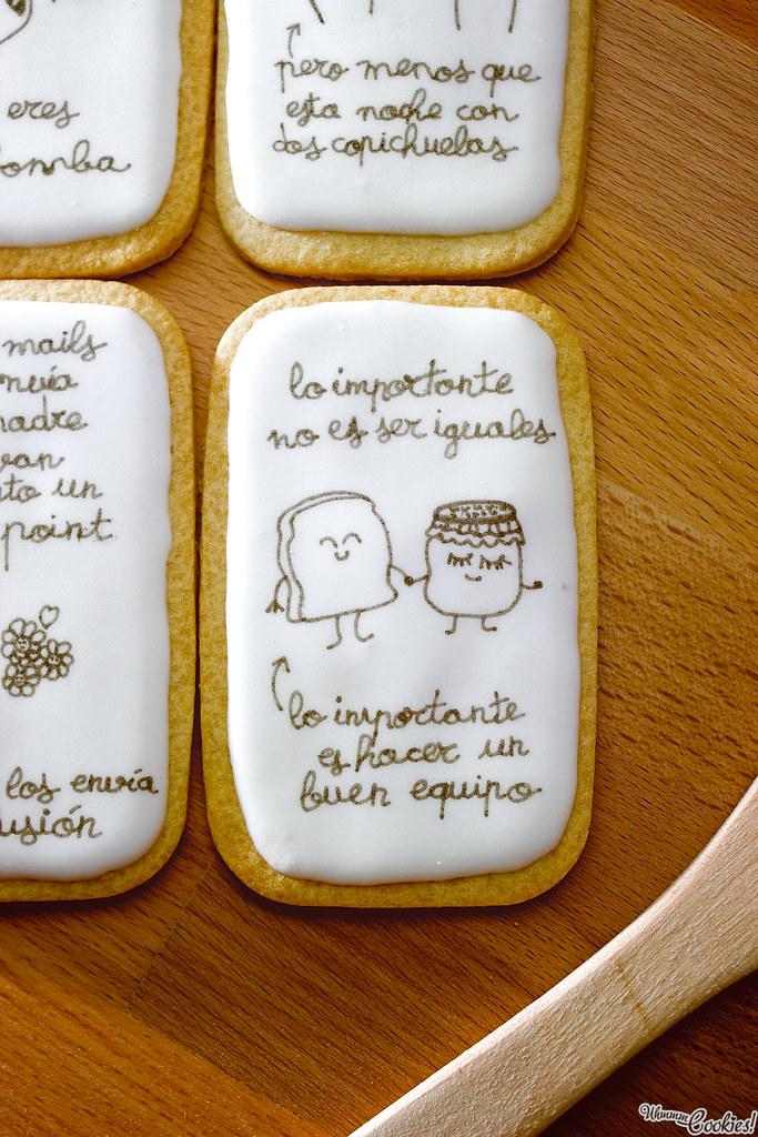 «Mr. Wonderful Cookie Set» Dicen que los polos opuestos se atraen. Fijaos en nosotros, yo no he visto «La Bella Durmiente» y Mariades ni un solo fotograma de «Predator». La pareja perfecta.