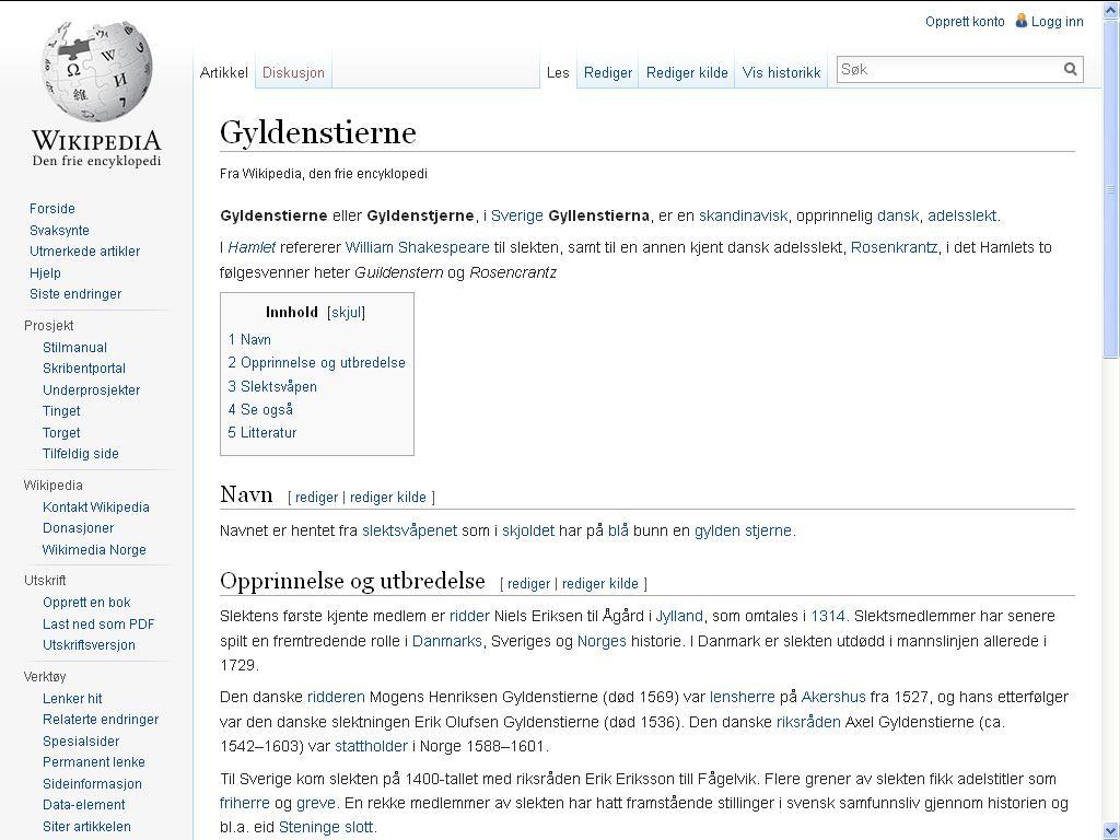 gyldenstjerne wiki