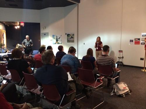 Dr. Amber Straughn Speaks to NASA Social Attendees
