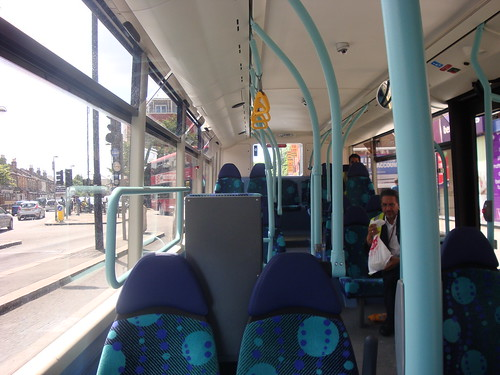 Interior of London United OCE2 on Route H98, Hounslow