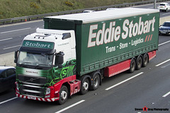 Volvo FH 6x2 Tractor with 3 Axle Curtainside Trailer - PX61 BHO - H4850 - Rochelle Patricia - Eddie Stobart - M1 J10 Luton - Steven Gray - IMG_6888 (2)