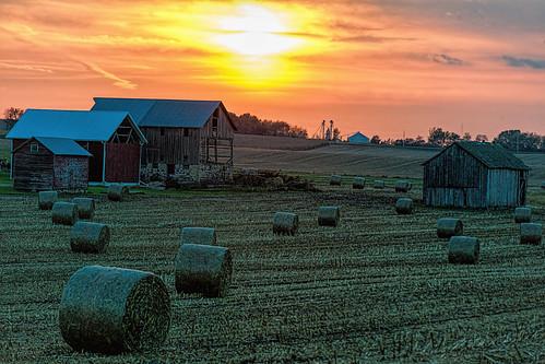 sunset fall wisconsin rural unitedstates deforest ©jrj ccf2014