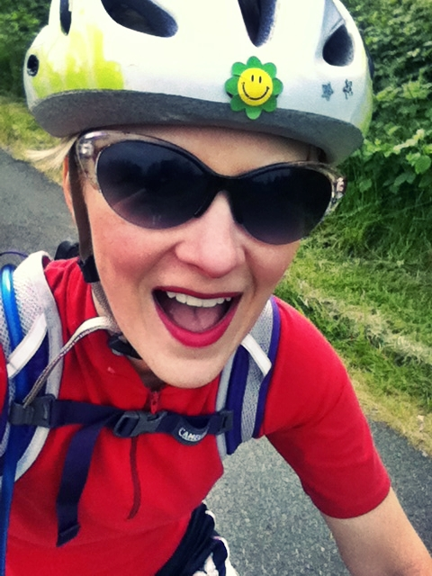 happy biking face