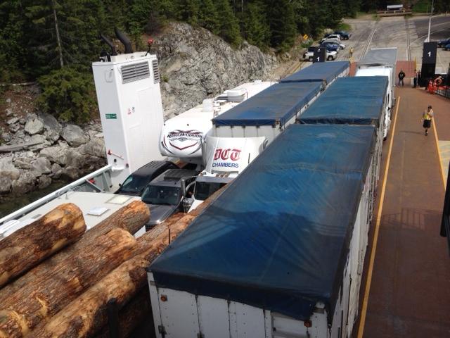 Ferrying a big load