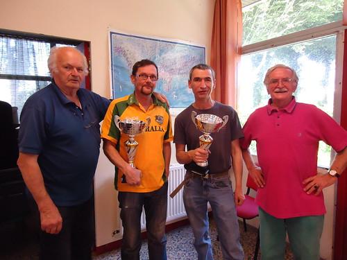08/06/2014 - Mille Club (Morlaix) : Les finalistes du concours de boules plombées en doublettes formées