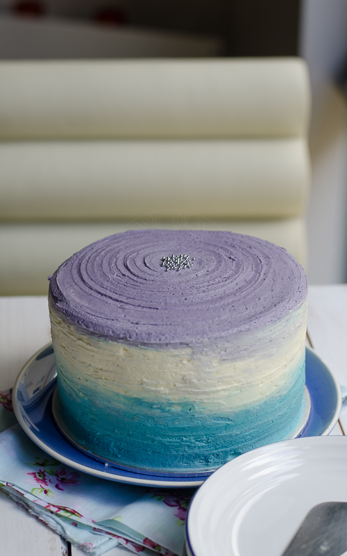 Blue Ombre Birthday Cake Lisas Lemony Kitchen