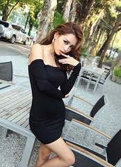 New 2014 Europe Sexy Women Dress Slash Neck Off the Shoulder Slim Hip Dress Wrapped Chest Black Elastic Dress-1@Patravol