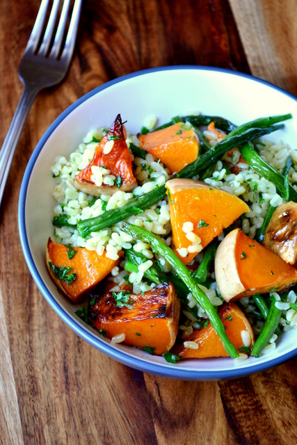 Green Bean and Butternut Squash Salad